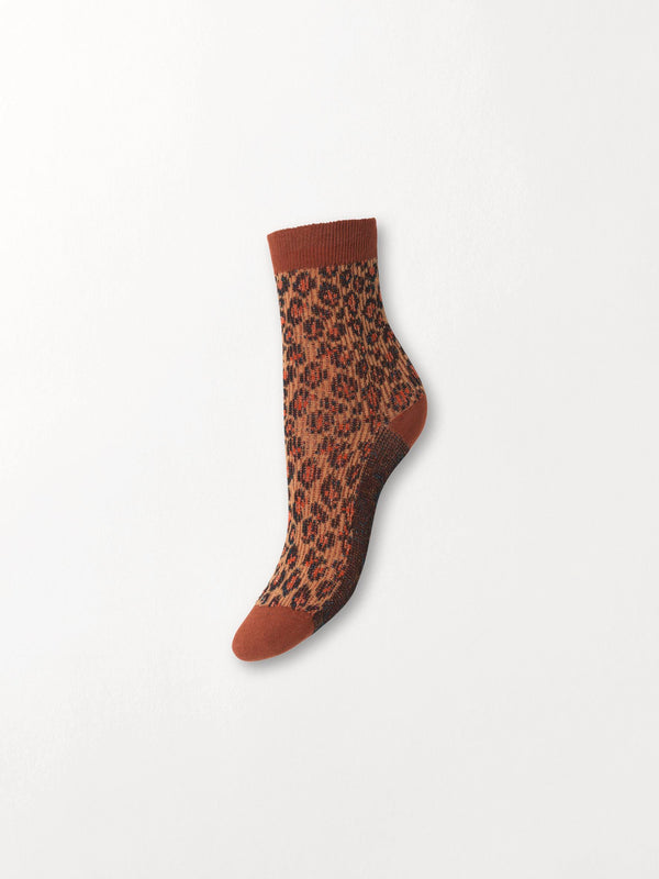 Becksöndergaard, Leo Glammy Sock - Brownish, socks, socks