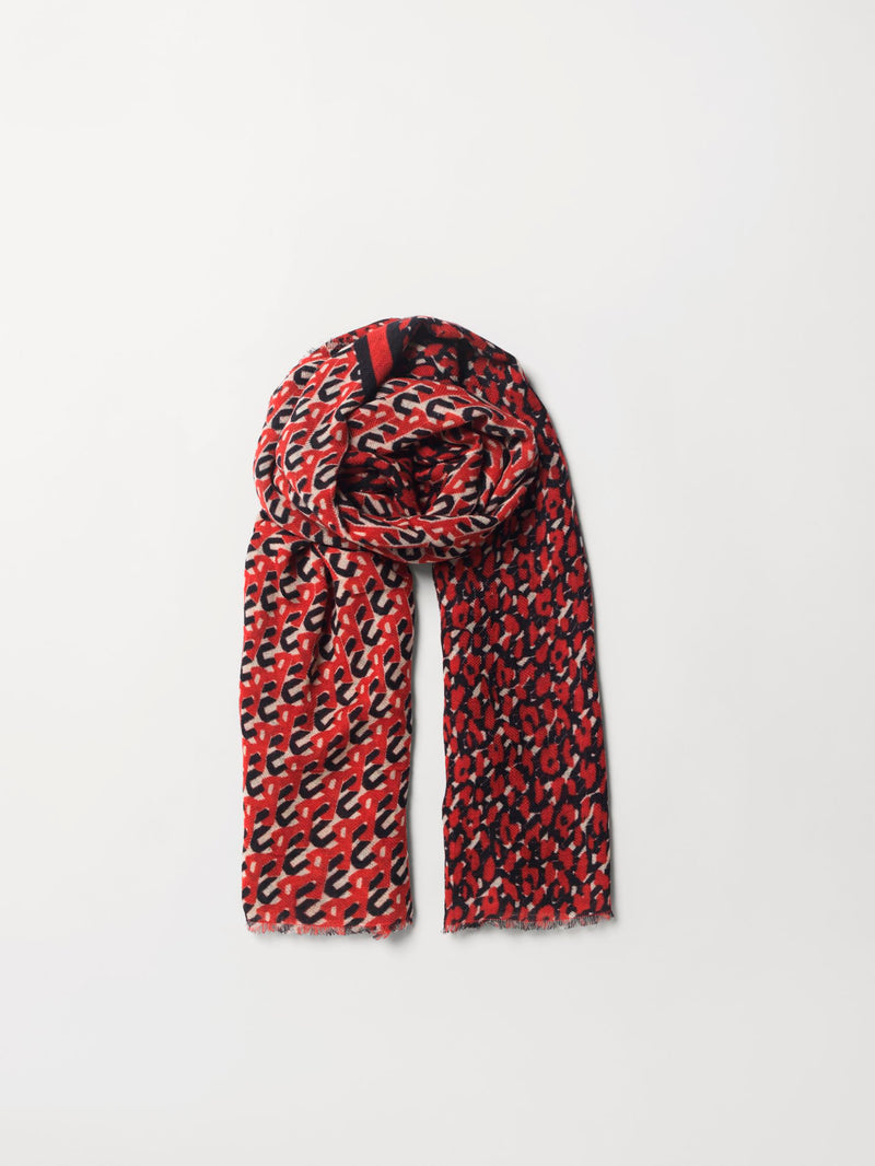 Becksöndergaard, Besleo Woo Scarf - Grenadine, scarves, outlet flash sale, outlet flash sale, sale, sale