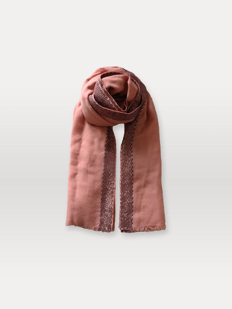 Becksöndergaard, Bajana Woo Scarf - Rose Dawn, outlet flash sale, outlet flash sale, mid season sale, mid season sale, sale, sale