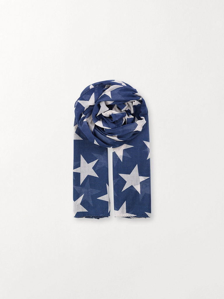 Becksöndergaard, Fine Twilight - Shy Indigo, accessories, scarves, accessories, star scarves, scarves, accessories