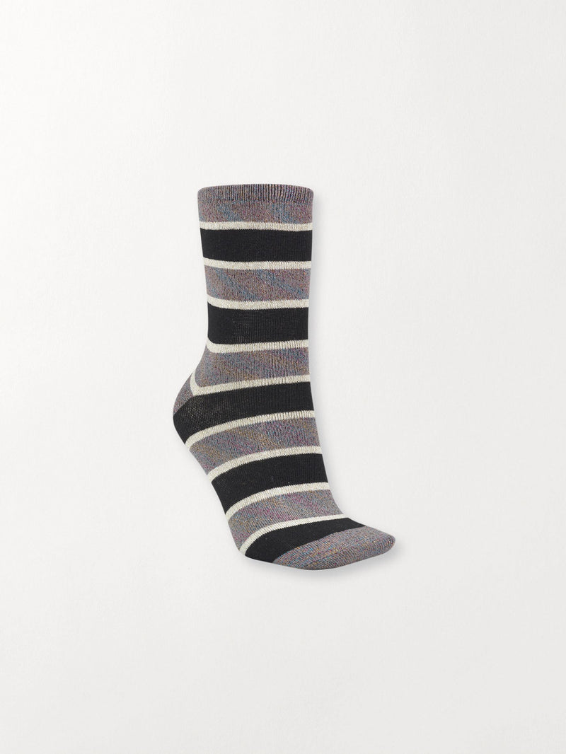 Becksöndergaard, Dory Stripe - Black, accessories, socks, accessories, socks, accessories