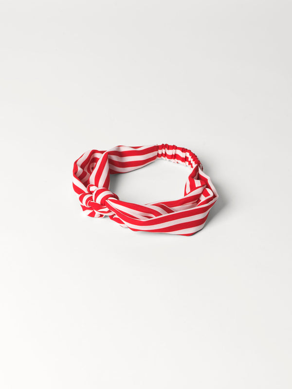 Becksöndergaard, Striped Hairband - Fiery Red, accessories, mid season sale, mid season sale