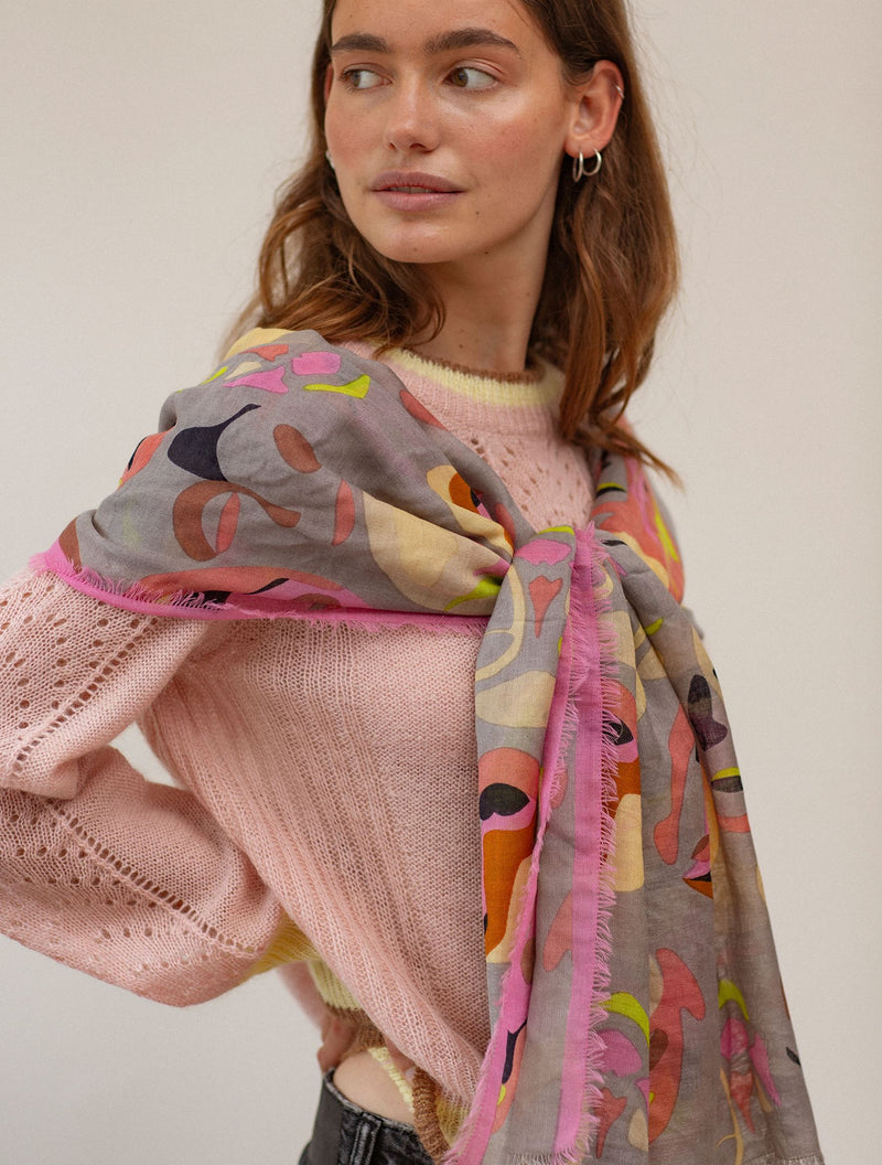 Becksöndergaard, Visage Siw Scarf  - Pale Mauve, scarves, outlet flash sale, outlet flash sale, sale, sale