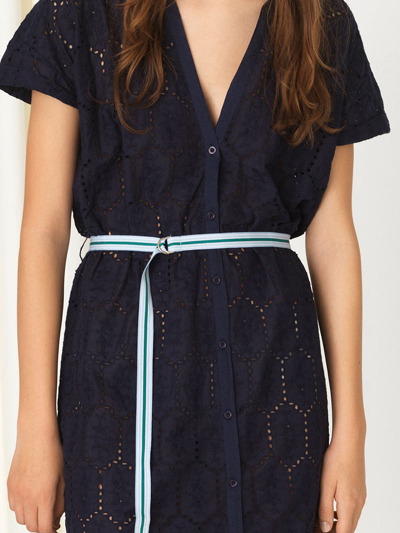 Becksöndergaard, Anglaise Casey Long Shirt - Navy Blue, clothing, clothing, outlet, outlet