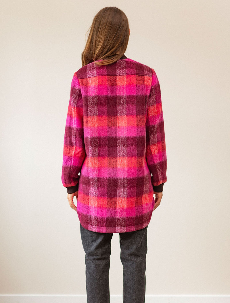 Becksöndergaard, Check Woods Jacket - Pink, clothing, clothing