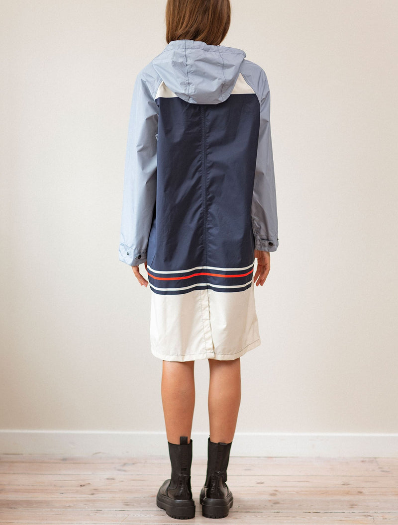 Becksöndergaard, Blockie Magpie Raincoat - Blue, outlet, outlet, sale, sale