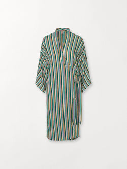 Becksöndergaard, Rafael Stria Kimono - Green, outlet flash sale, outlet flash sale
