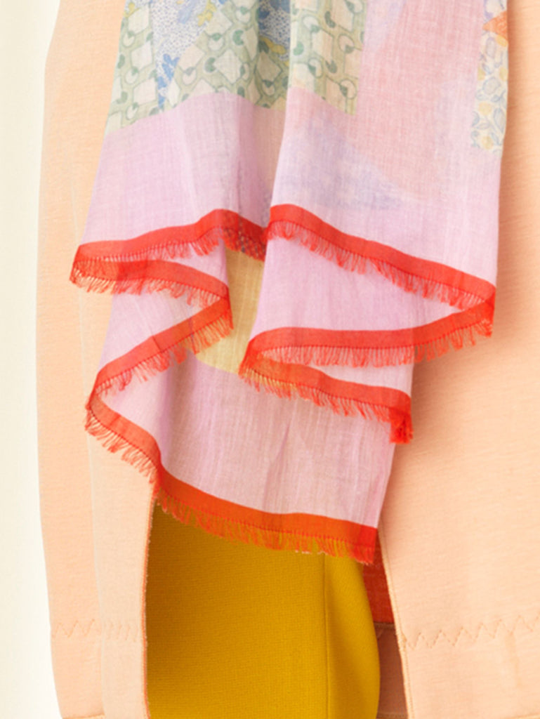 Becksöndergaard, Pepe Patch Scarf - Multi Col., accessories, scarves, accessories, printed scarves, scarves, accessories, news