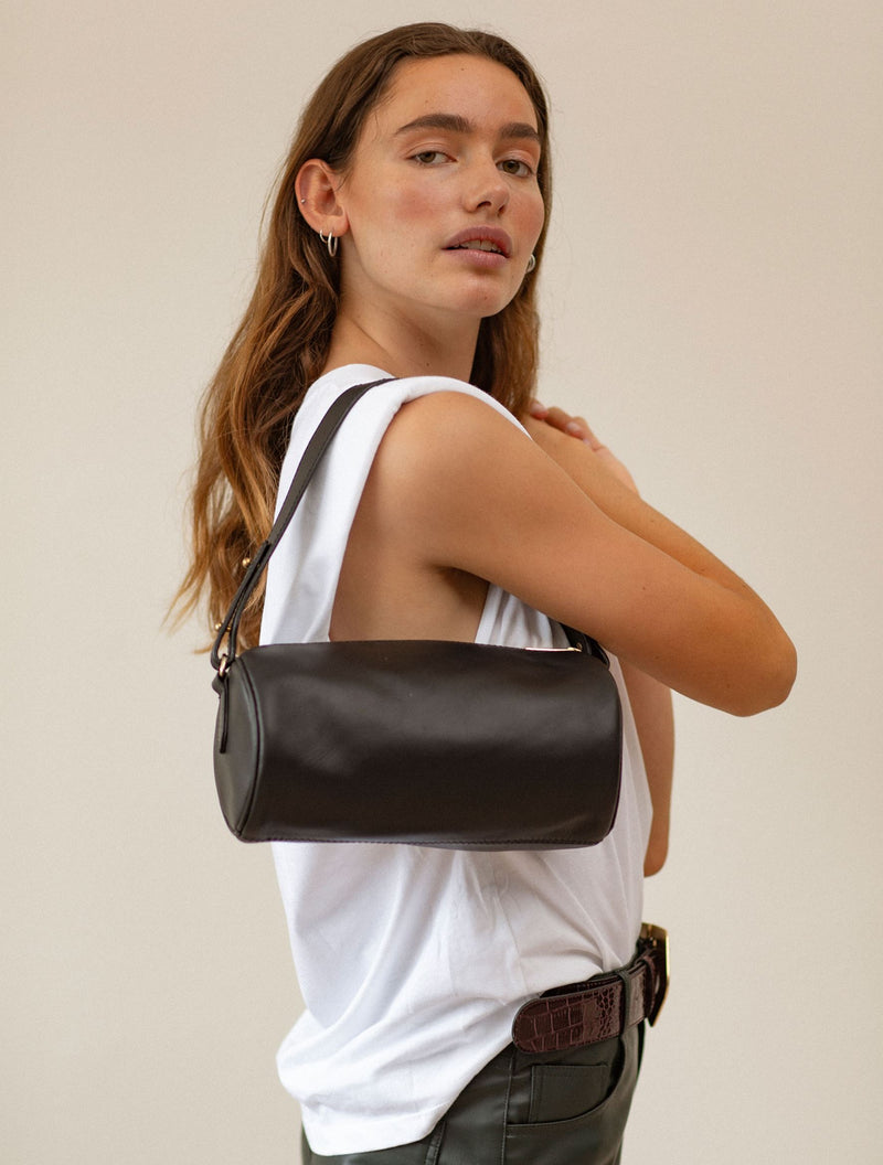 Becksöndergaard, Waxy Barrol Bag  - Black, bags, outlet flash sale, outlet flash sale, sale, sale