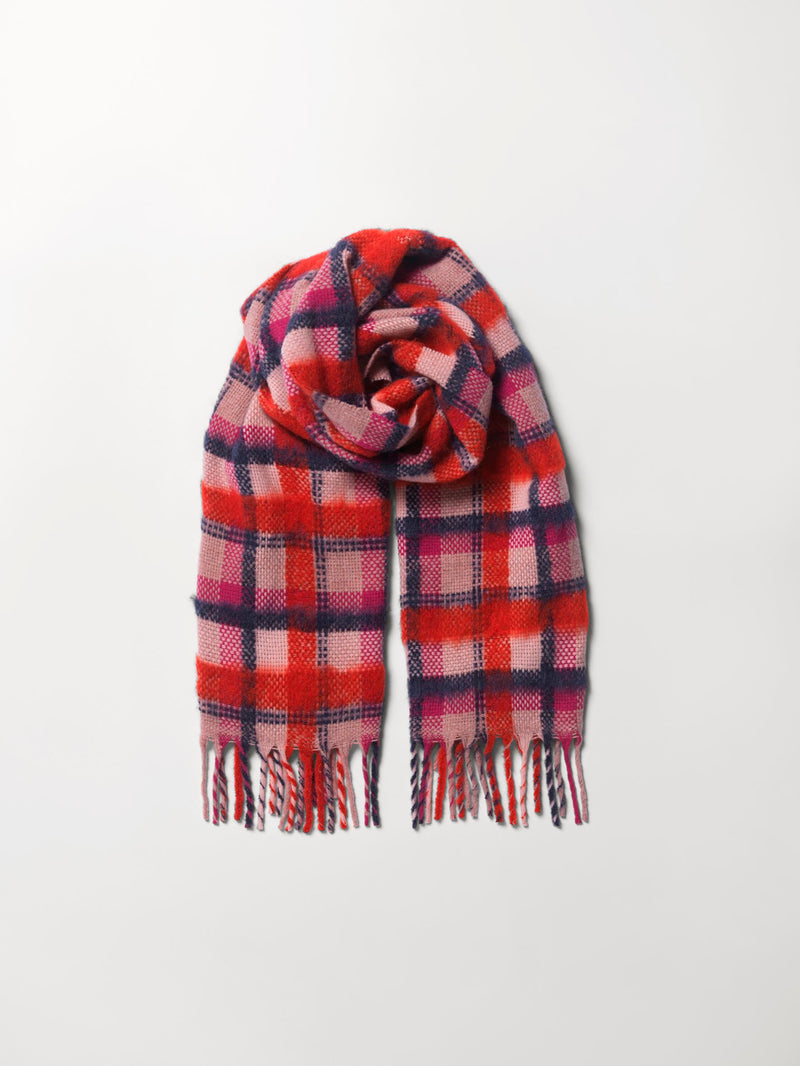 Becksöndergaard, Check Sillian Scarf  - Red, sale, sale