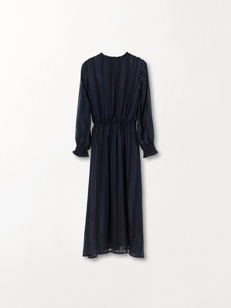 Becksöndergaard, Striped Kayllen Dress  - Night Sky, clothing, clothing