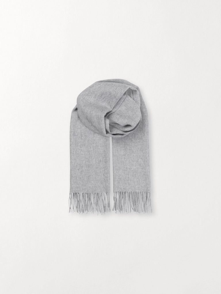 Becksöndergaard, Crystal Edition - Light Grey Melange, accessories, scarves, accessories, solid scarves, scarves, accessories