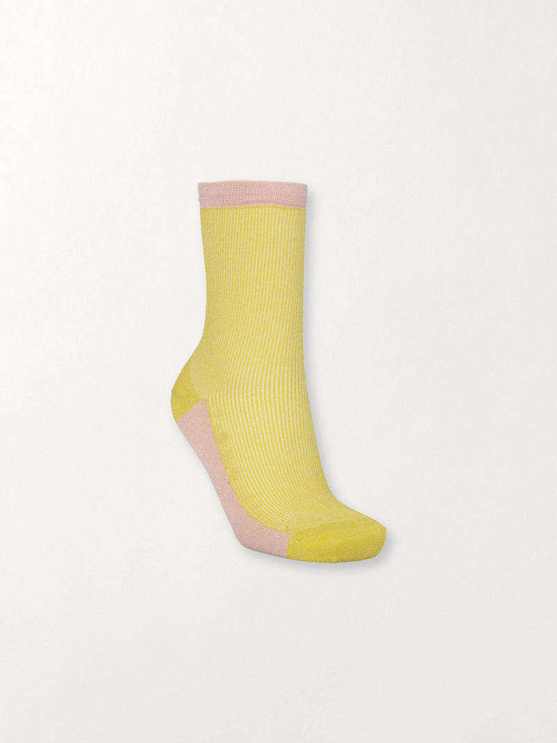 Becksöndergaard, Dea Glitz Sock - Yellow, outlet flash sale, outlet flash sale