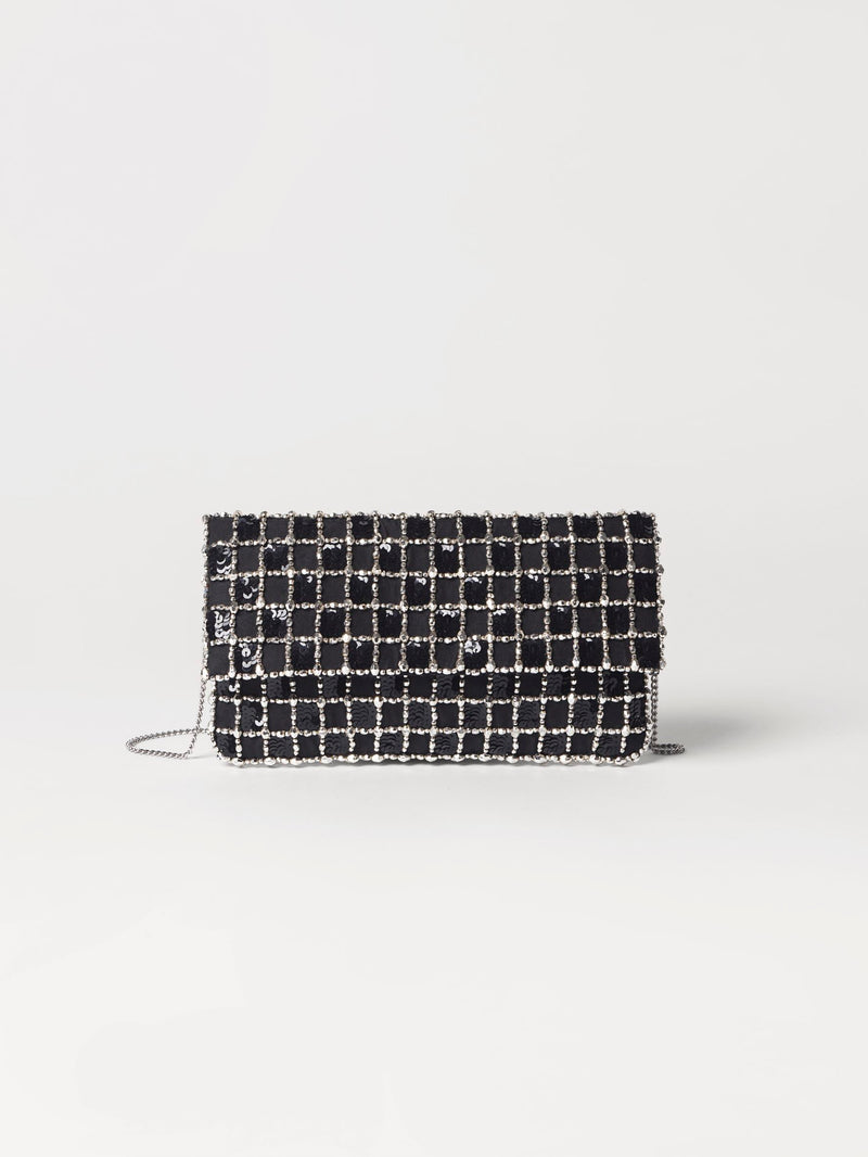 Becksöndergaard, Paradi Check Bag - Black, outlet flash sale, outlet flash sale, sale, sale