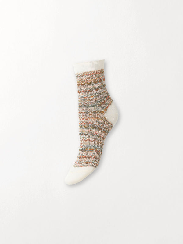 Becksöndergaard, Multicolour Athena Sock - White, gifts, sale, sale