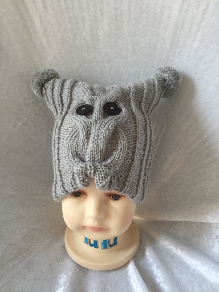 Owl Hat - Grey