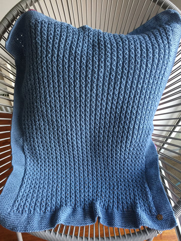 Cable design baby blanket