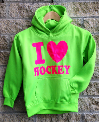 I love hockey sweater fluor groen