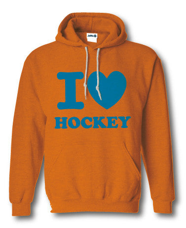 I love hockey sweater fluor oranje