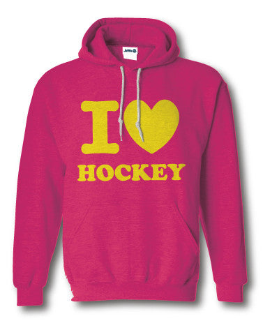 I love hockey sweater fluor roze