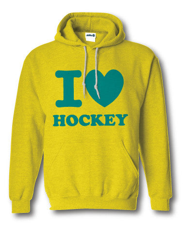 I love hockey sweater fluor geel