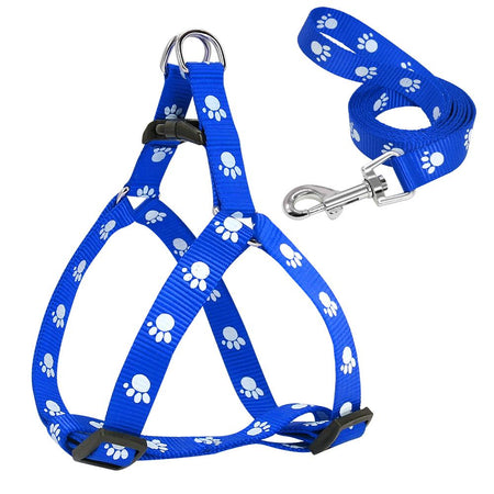 Paw Print Small Dog Harness AE4LIFE Blue L