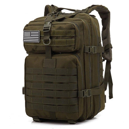 Large Capacity Man Army Tactical Backpacks AE4LIFE Army Green