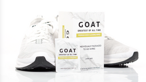 Introducing: GOAT Greatest Of All Time Premium Sneaker Cleaning Wipes