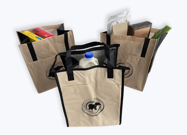 Reusable Shopping Bag Starter Kit - Concentric Bear