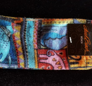 "Laurel Burch ""Dogs of the Rainbow Womans Socks."