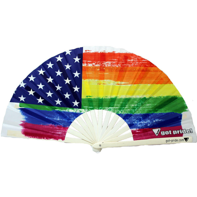 American Gay Pride Flag Klackin Fan™