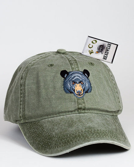 Black Bear Face Cap