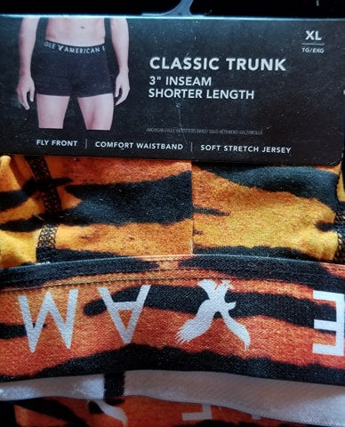 XL Tiger Print 3 Inch Classic Trunk