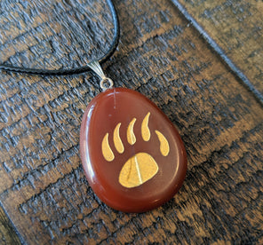 Bear Paw Pendant Necklace