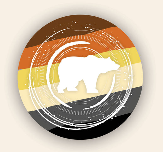 Concentric Bear Pride Sticker