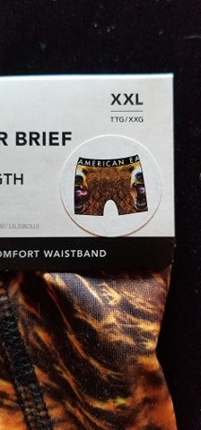 "2 XL Grizzly Bear 6 "" Flex Boxer Brief"