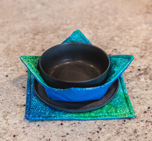 Bowl & Plate Cozy Set - Blue