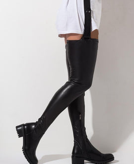 Let's Go Out Tonight Over The Knee Boots