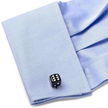 Load image into Gallery viewer, Black Dice Cufflinks