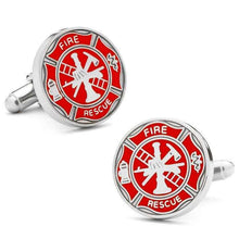 Load image into Gallery viewer, Firefighter Shield Cufflinks
