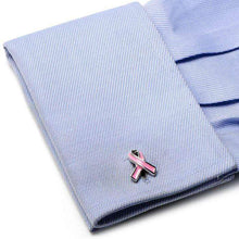 Load image into Gallery viewer, Pink Ribbon Breast Cancer Awareness Cufflinks
