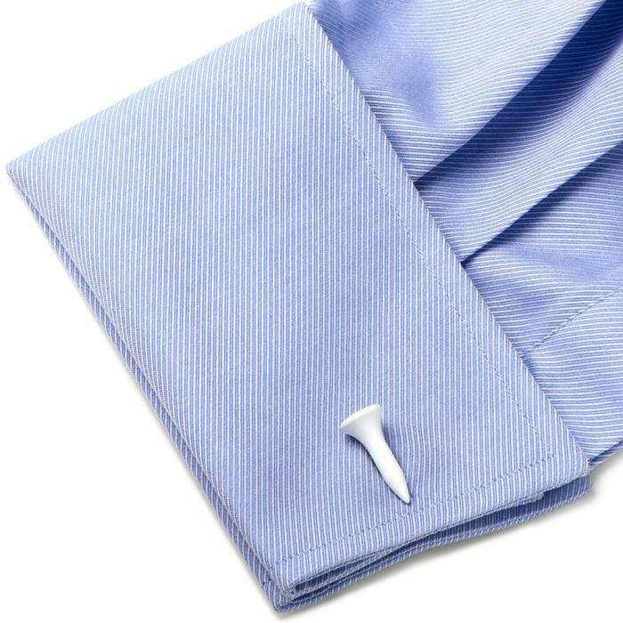 White Golf Tee Cufflinks