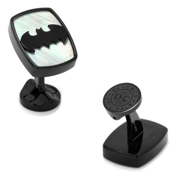 Stainless Steel Mother of Pearl Batman Cufflinks