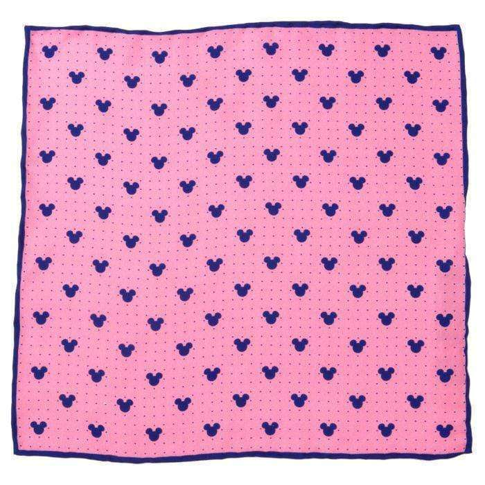 Disney Pocket Squares Pink Mickey Mouse Dot Pink Pocket Square