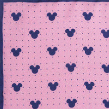 Load image into Gallery viewer, Disney Pocket Squares Pink Mickey Mouse Dot Pink Pocket Square