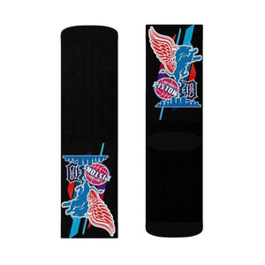 INOLTRE All Over Prints Sports Detroit Sublimation Socks Black