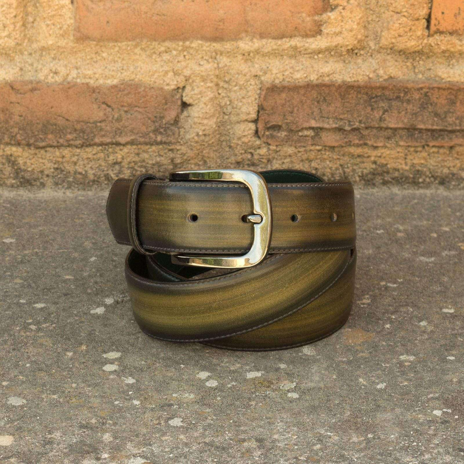 INOLTRE Belt Green Patina Hampton