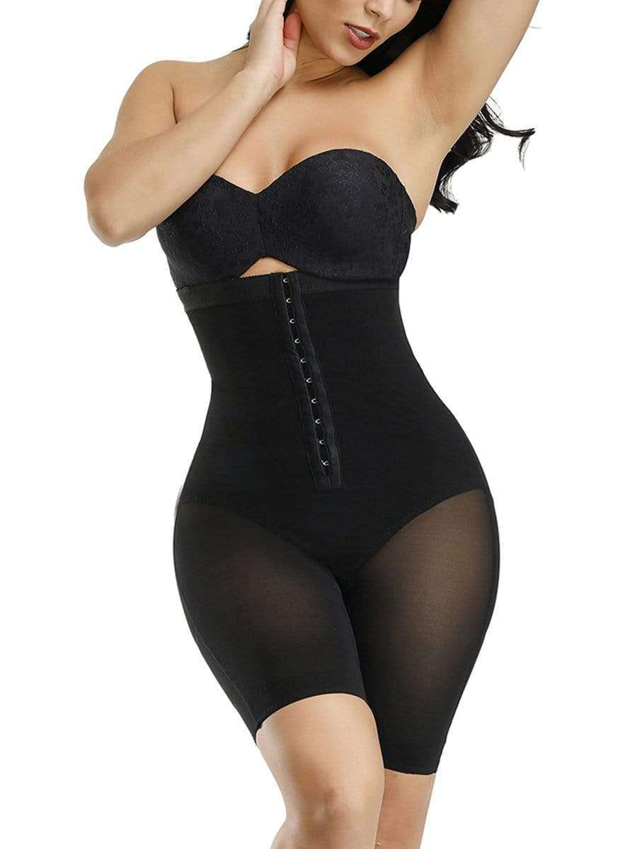 Black Full High Power Cross Body Shaper W/ Boning