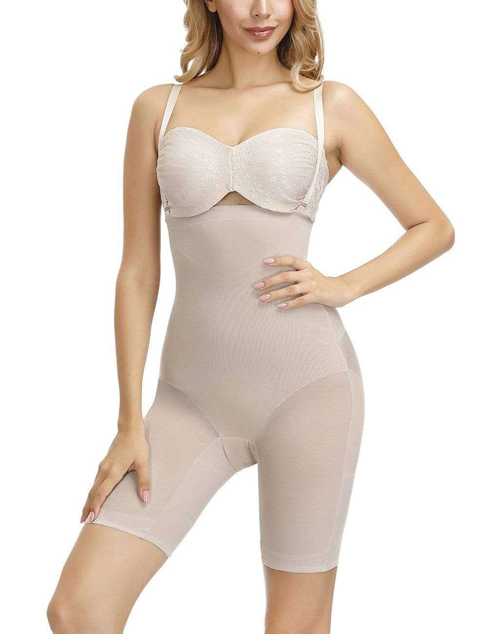 Nude Cross Crotchless Booty Lifting Cross Body Shaper