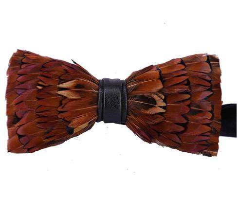 BROWN PHEASANT FEATHER BOW TIE Bow Ties Inoltre